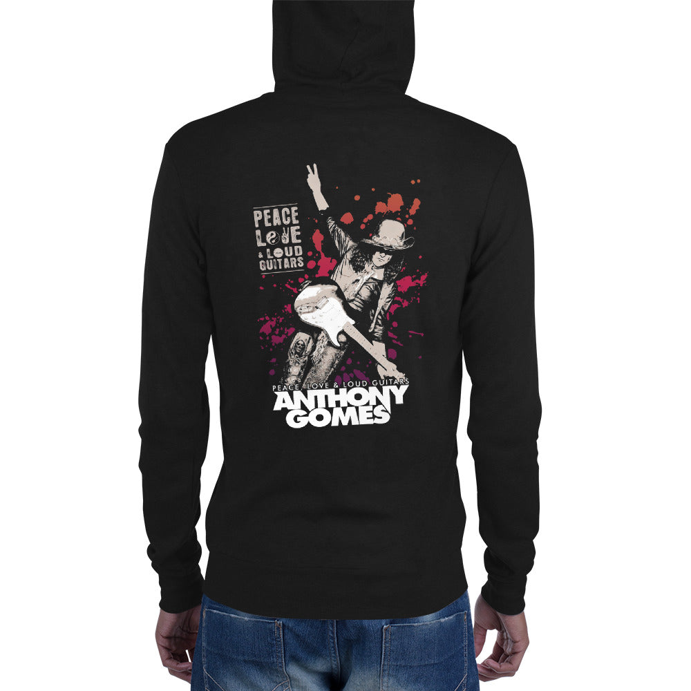 PLLG Guitar Expolsion Unisex Zip Hoodie (Available in 2 Colors)
