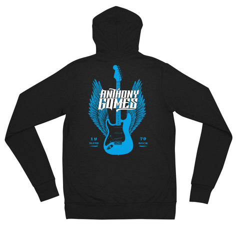 Image of Blue Wings & Guitar Hoodie
