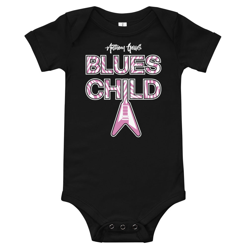 Blues Child Baby Body Suit (Pink)