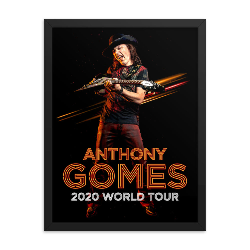 Anthony Gomes 2020 Tour Framed poster