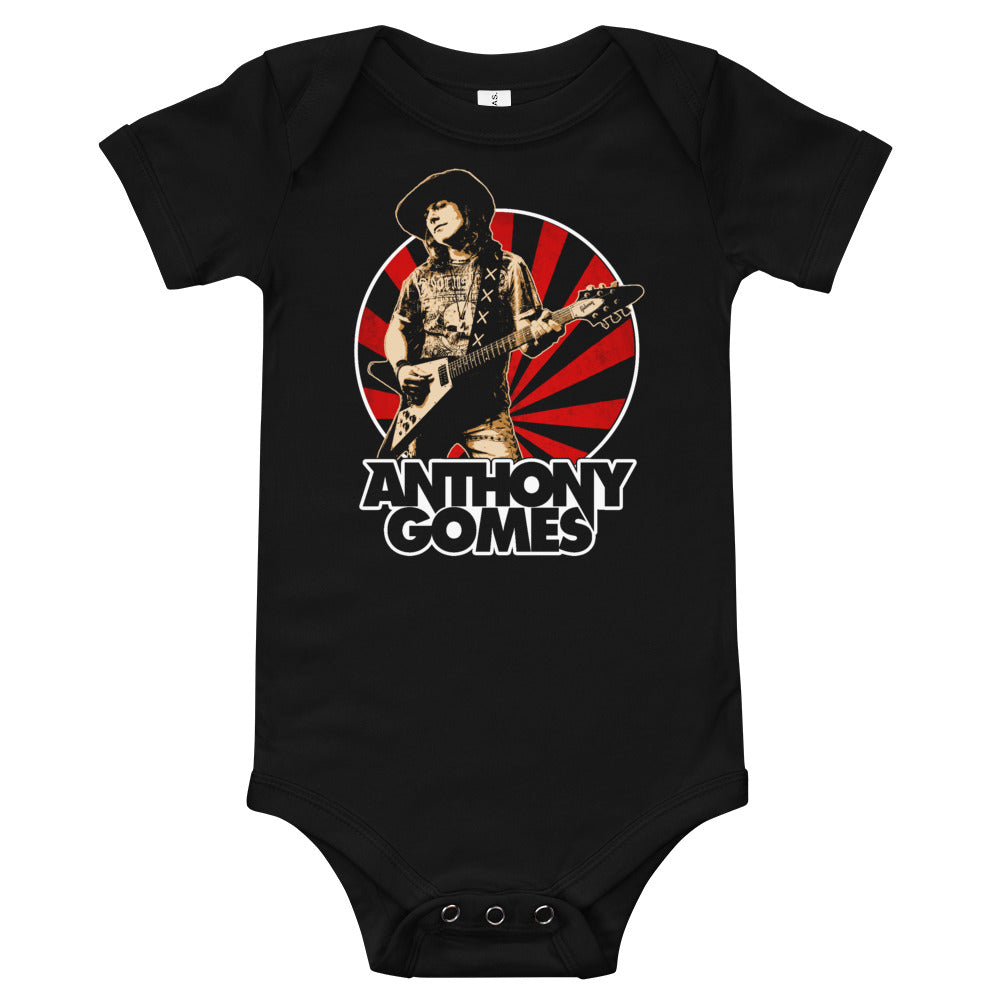 Anthony Gomes Red Rays Baby One Piece
