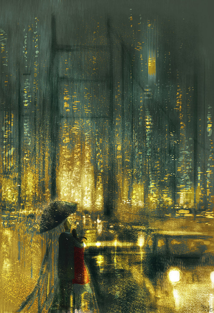 Another Rainy Night in San Francisco - Open Art Print
