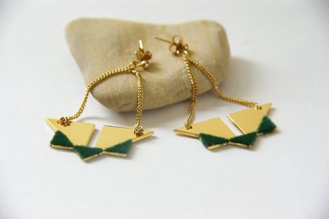 Anne Thomas - Astrid Earrings Green - KudeCoeur