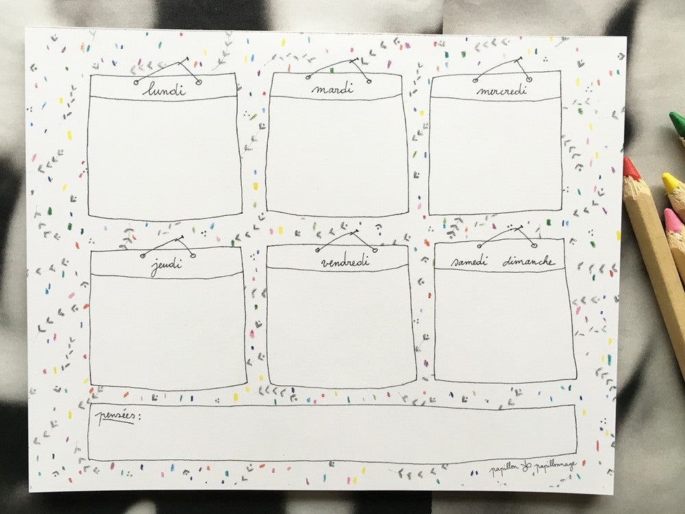Weekly Planner  papillon❀papillonnage