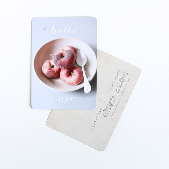 Cinq Mai - Peach Post card - Kudecoeur