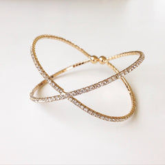 X Band Rhinestone Bangle