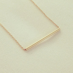 Tube Bar Necklace