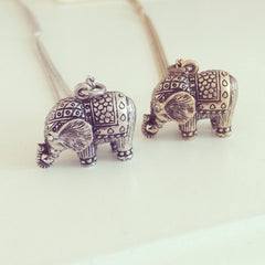 Antique Small Elephant Necklace