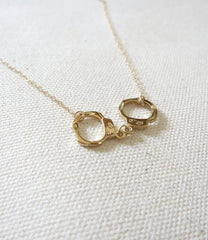 Mini Handcuffs Gold Necklace