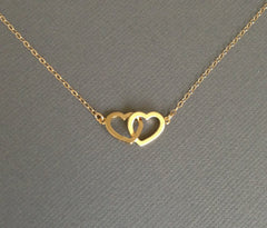 Double Linked Hearts Neckalce