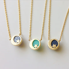 Lucky Moon & Star Necklace