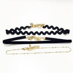 Dainty Wave Three Pieces Choker Pack