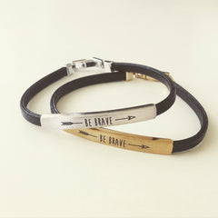 Be Brave Thin Bar Bracelet