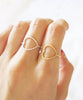 Simple Open Heart Ring