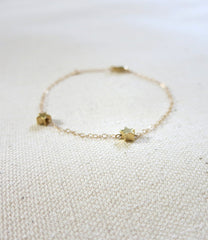 Tiny Two Star Bracelet