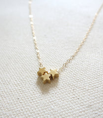Tiny Trio Star Necklace