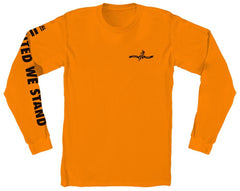 UNITED WE STAND - ORANGE L/S TEE