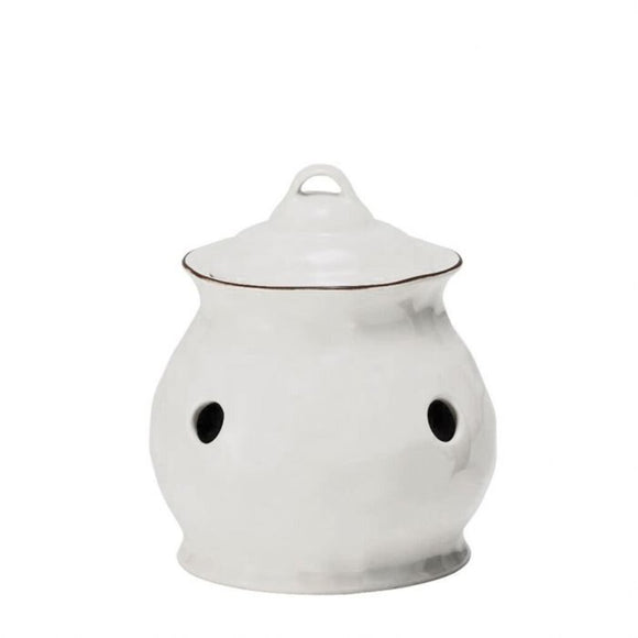 Cantaria Garlic Keeper - White