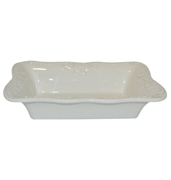 Isabella Medium Rectangular Bakers Dish - Ivory