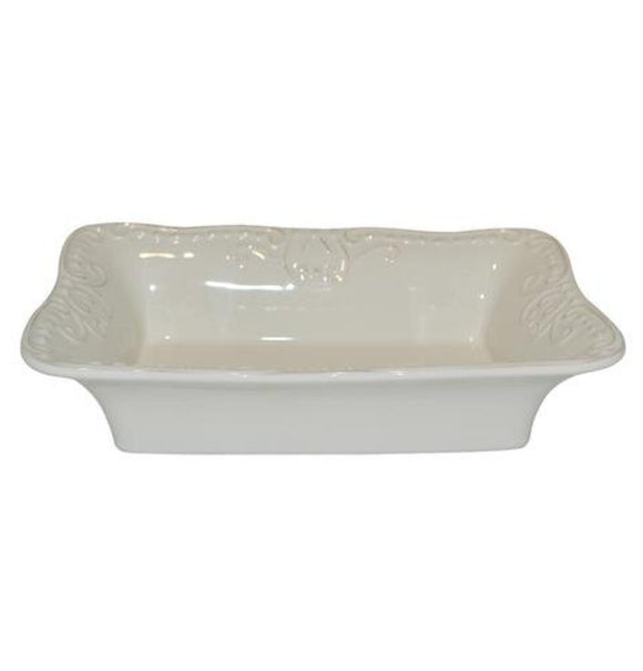 Isabella Small Rectangular Bakers Dish - Ivory