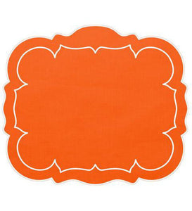 Linho Rectangular Table Place Mats - Orange