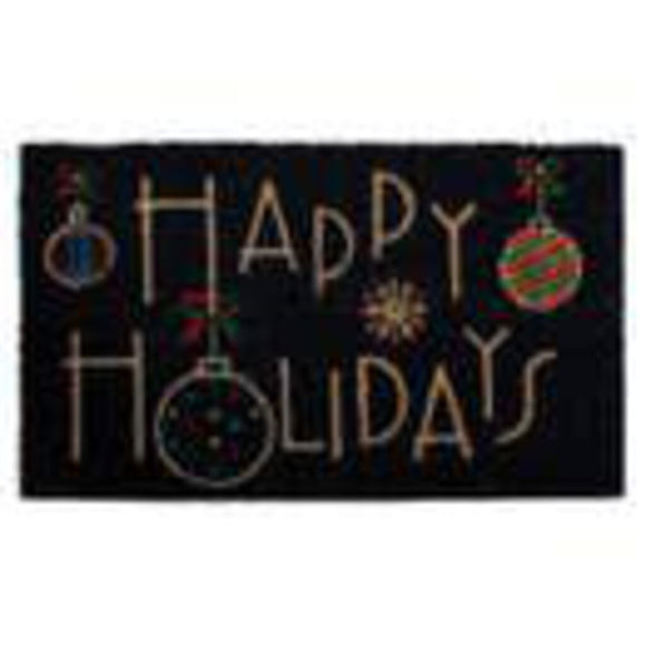 Happy Holidays Door Mat
