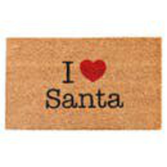 I Heart Santa Door Mat