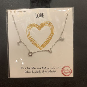 LOVE letters necklace silver