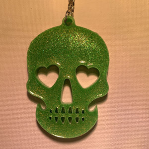 Blingin' Badges- Skull key chain