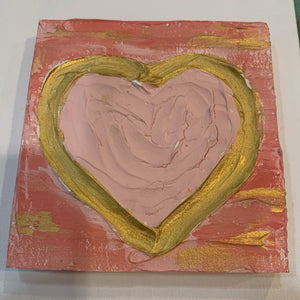 Textured Heart Painting