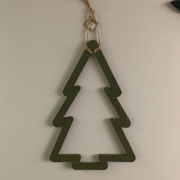 Christmas Tree Door Hanger - Green