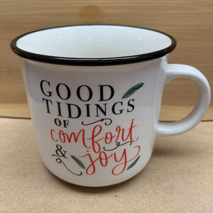 Good Tiding of Comfort and Joy Campfire Coffee Mug