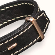 Leather Bracelet | Black | 18K Rose Gold - The True Gen