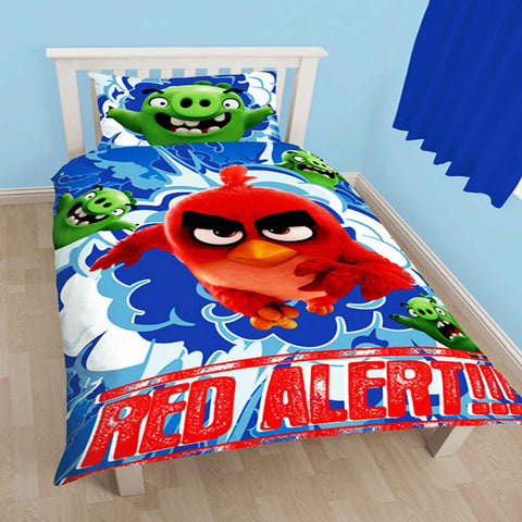 Angry Birds Movie Red Single Duvet Cover Set Polycotton