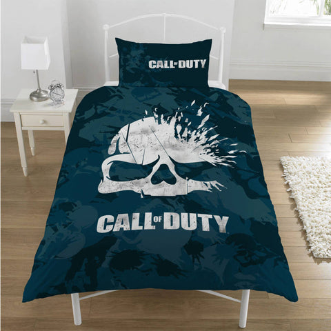 Call Of Duty Broken Skull Single Duvet Cover Set Polycotton Front