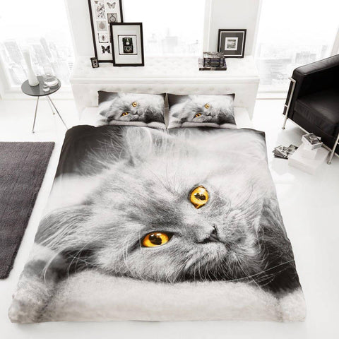 Cat Double Duvet Cover Set