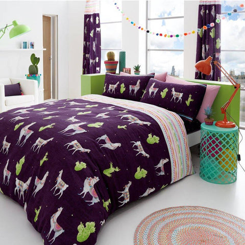 Llama Single Duvet Cover Set