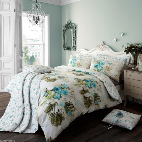 Vintage Dream Floral Double Duvet Cover Set