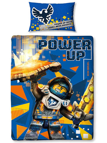 Lego Nexo Knights Power Single Duvet Cover Set Polycotton Panel Front