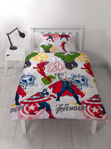 Marvel Avengers Mission Single Duvet Cover Set Polyester Front