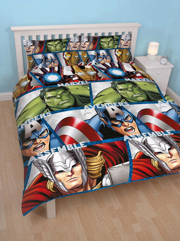 Marvel Avengers Shield Double Duvet Cover Set Front