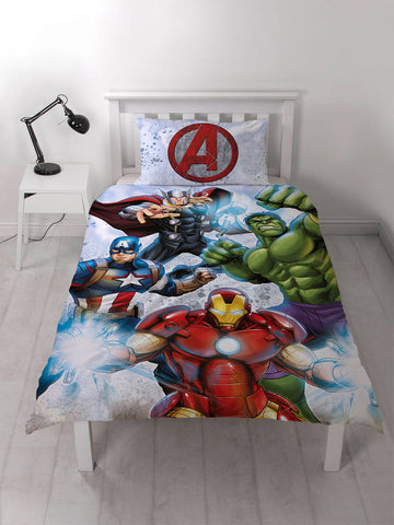 Marvel Avengers Strike Single Duvet Cover Set Polycotton Front