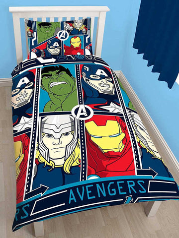 Marvel Avengers Tech Single Duvet Cover Set Polyester Front