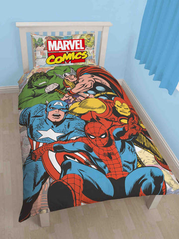 Marvel Comics Justice Single Duvet Cover Set Polycotton Front