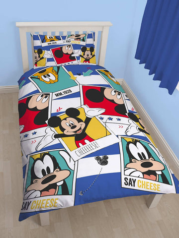 Mickey Mouse Polaroid Single Duvet Cover Set Polyester Front