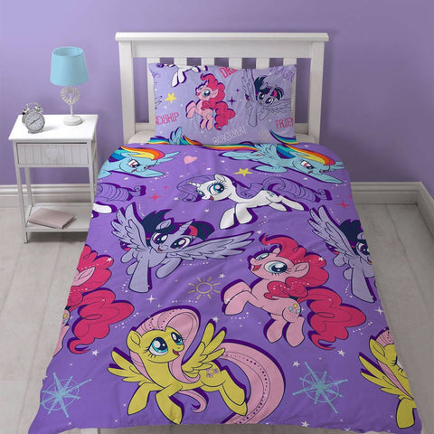 My Little Pony Movie Adventure Single Duvet Cover Set Polyester Front