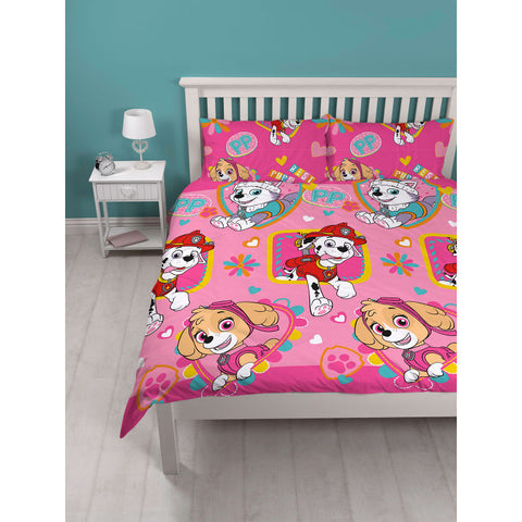 Paw Patrol Forever Double Duvet Cover Set Polyester Front
