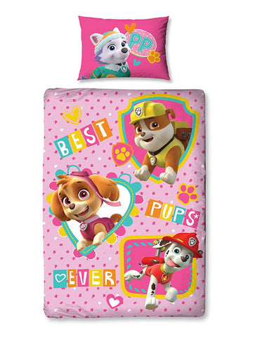 Paw Patrol Forever Single Duvet Cover Set Polycotton Front