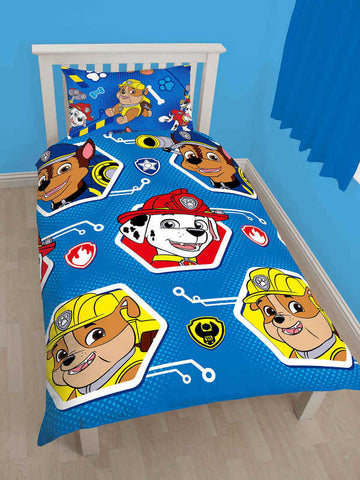 Paw Patrol Rescue Single Duvet Cover Set Polyester Front
