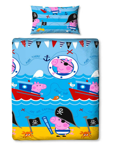 Peppa Pig George Pirate Single Duvet Cover Set Polyester Front